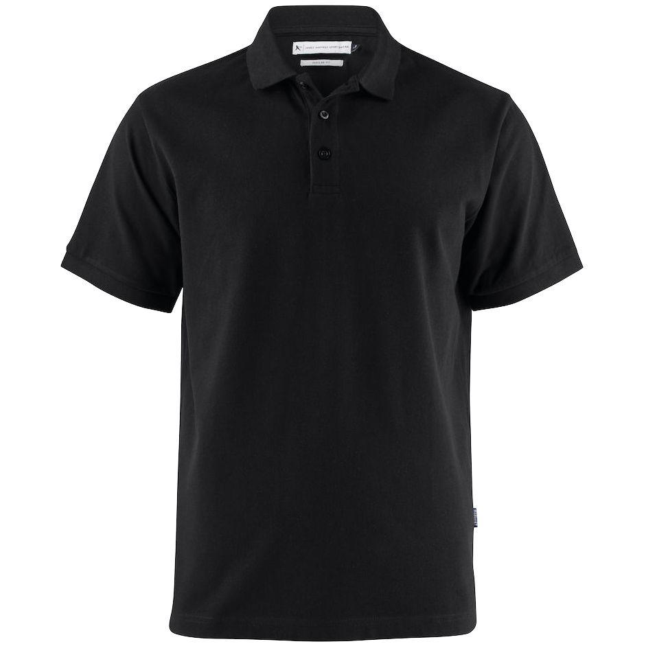 Рубашка поло мужская Neptune черная, размер XXL