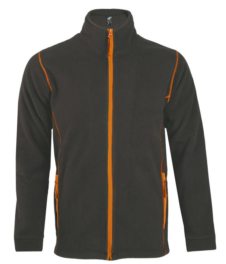 Куртка мужская NOVA MEN 200, темно-серая с оранжевым, размер M фото