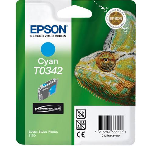 Фото - Картридж с голубыми чернилами Epson T0342 для SP2100 (C13T03424010) автомобильный ароматизатор tensy бутылочка с пробкой эксклюзив гламур can can burlesque paris hilton