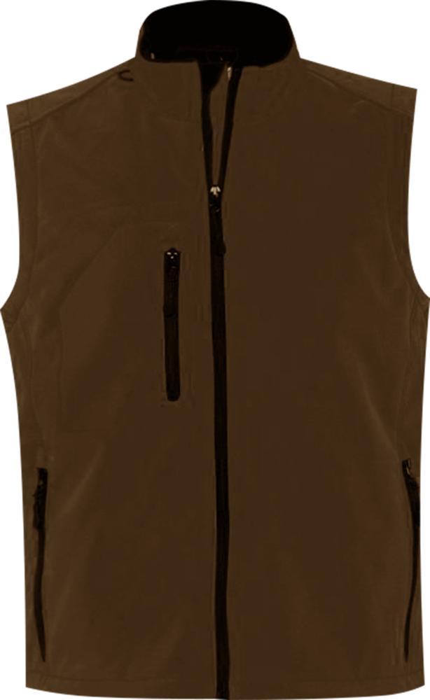 Жилет мужской софтшелл RALLYE MEN шоколадно-коричневый, размер XL