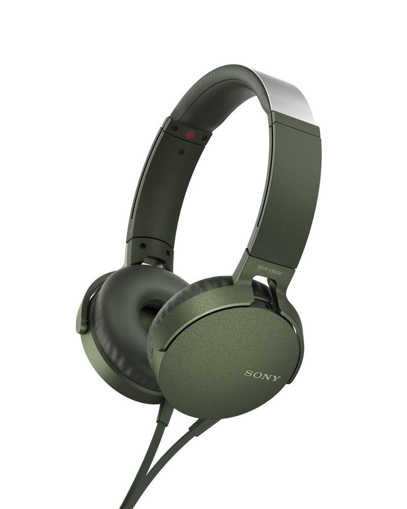 Наушники Sony XB-550, зеленые