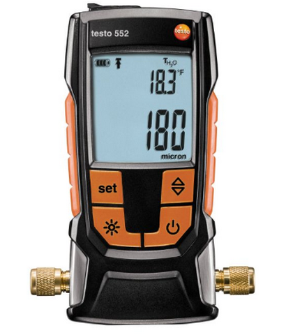 552 c Bluetooth и поверкой анемометр с крыльчаткой testo 410 1 функция hold от 10 до 50 °c ±0 5 °c