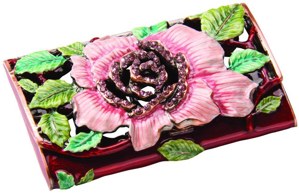 Визитница с цветком визитница razor лиловый