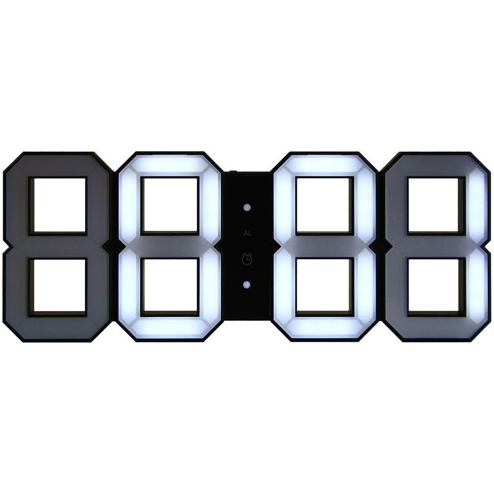 Часы настенные White & Clock, черные