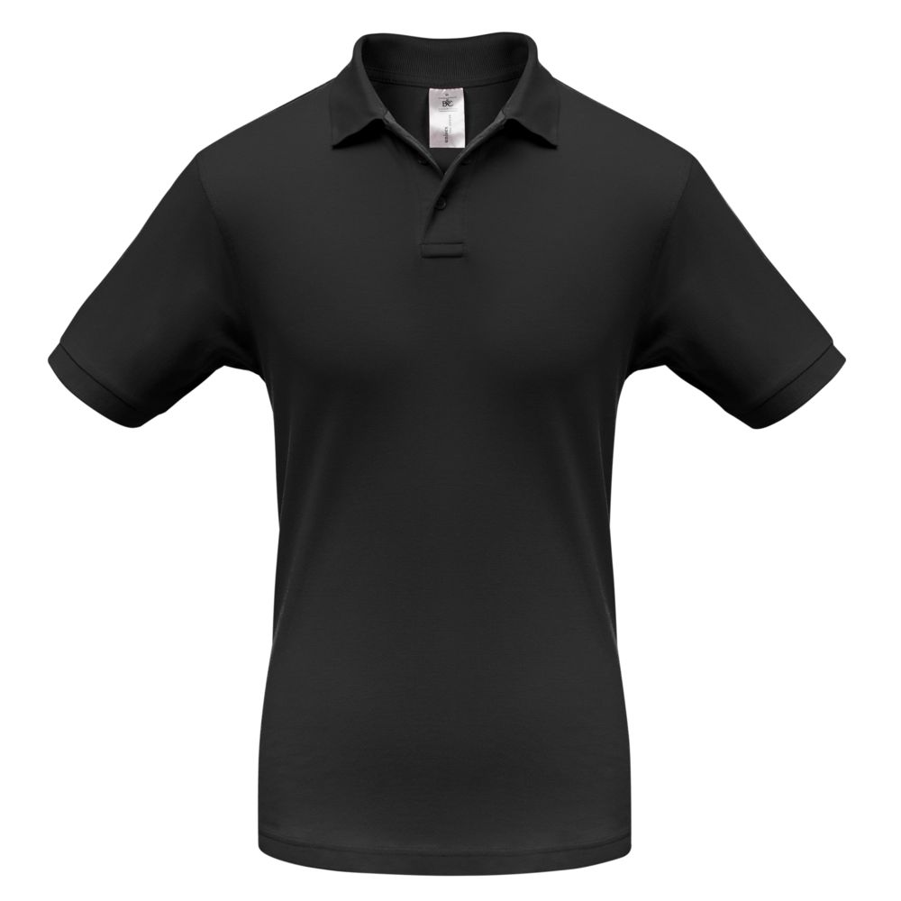 Рубашка поло Safran черная, размер XXL рубашка поло safran темно синяя размер xxl
