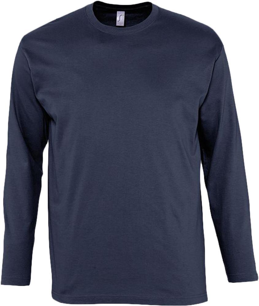 Футболка мужская с длинным рукавом MONARCH 150 темно-синяя, размер XXL футболка мужская с длинным рукавом monarch 150 темно серая размер s