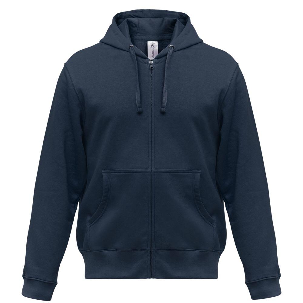 цена Толстовка мужская Hooded Full Zip темно-синяя, размер XXL онлайн в 2017 году