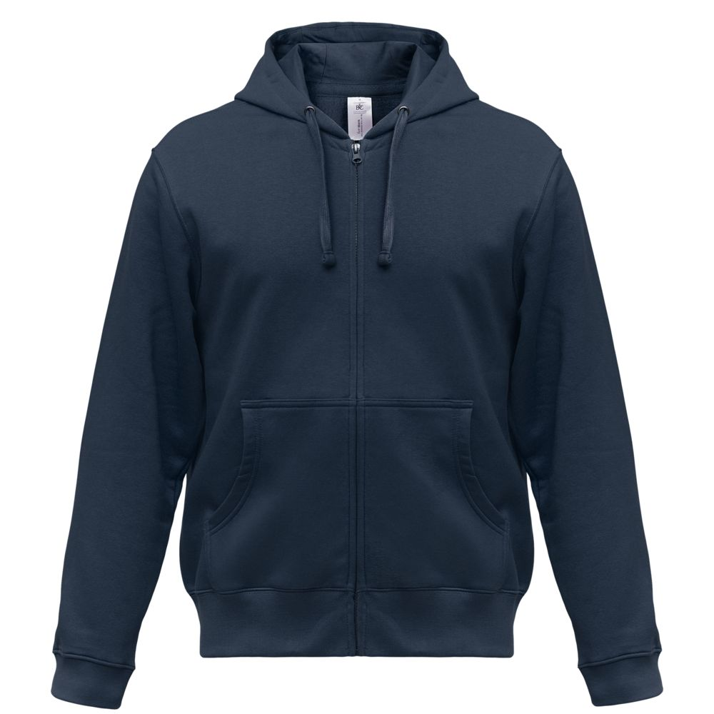Толстовка мужская Hooded Full Zip темно-синяя, размер XXL недорого