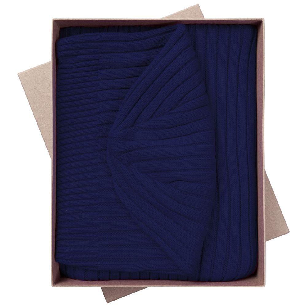 Набор Stripes: шарф и шапка, темно-синий набор шапка и шарф детский для девочек c размером disney frozen