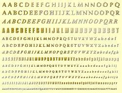 Фото - Комплект шрифтов для английского языка 4 мм игрушка полесьенабор дорожных знаков 1 64196