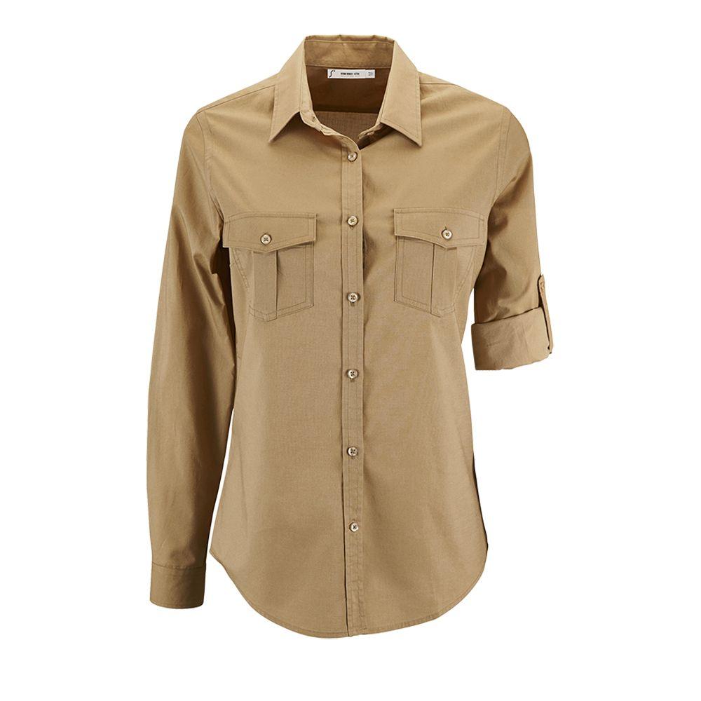 Рубашка женская BURMA WOMEN бежевая, размер L цена 2017