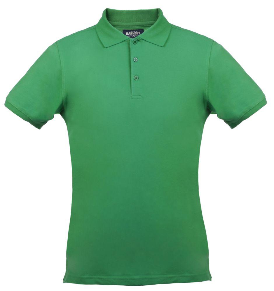 Рубашка поло стретч мужская EAGLE, зеленая, размер M фото