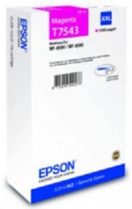 Картридж экстраповышенной емкости с пурпурными чернилами T7543 для WF-8090, 8590 (C13T754340) картридж повышенной емкости с черными чернилами t7551 для wf 8090 8590 c13t755140