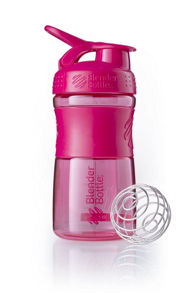 Спортивный шейкер SportMixer, розовый (малиновый)