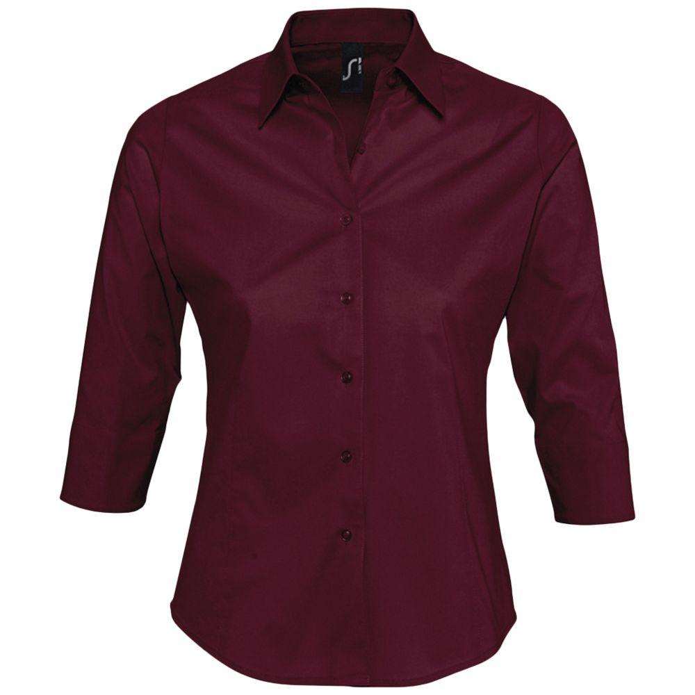 Рубашка женская с рукавом 3/4 EFFECT 140 бордовая, размер L