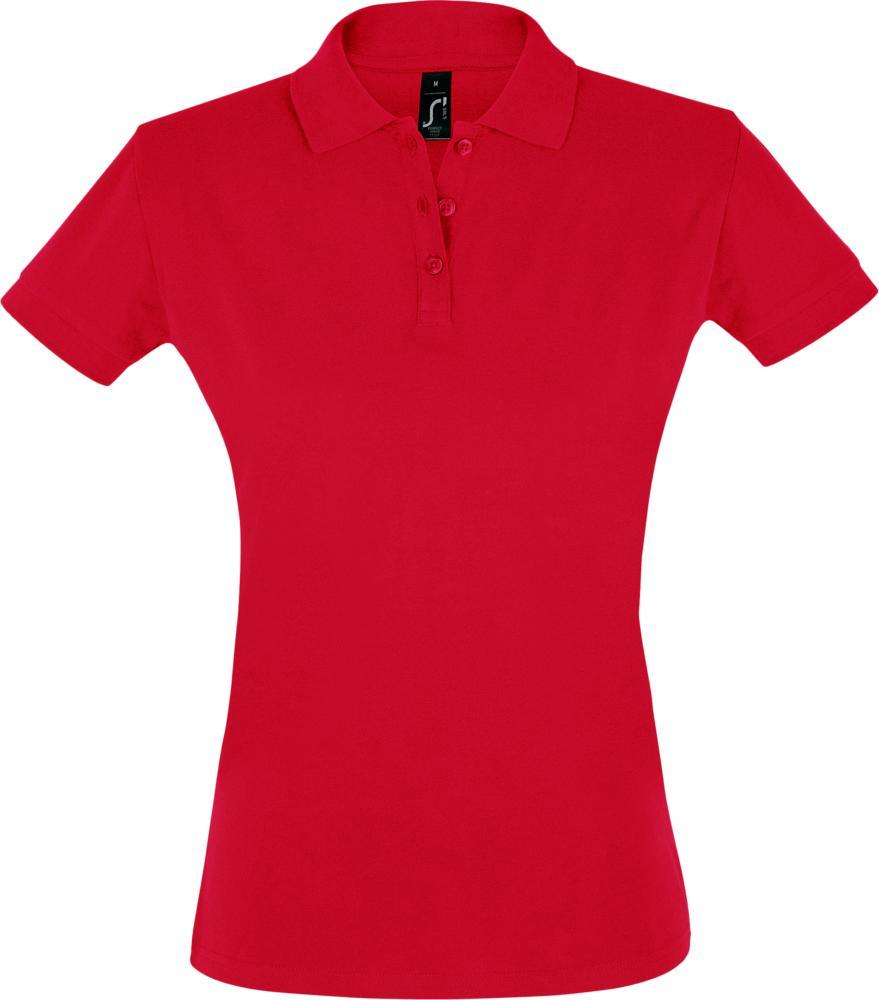 Рубашка поло женская PERFECT WOMEN 180 красная, размер XL рубашка поло женская perfect women 180 серый меланж размер xl