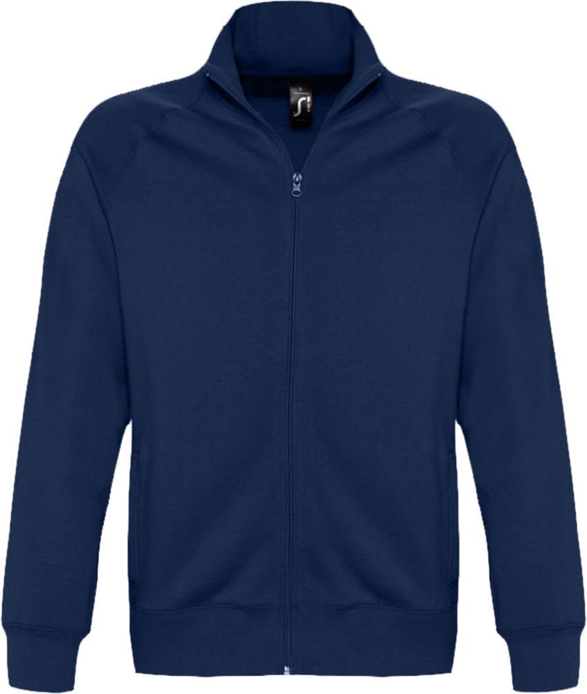 Толстовка мужская на молнии SUNDAE 280 темно-синяя, размер L