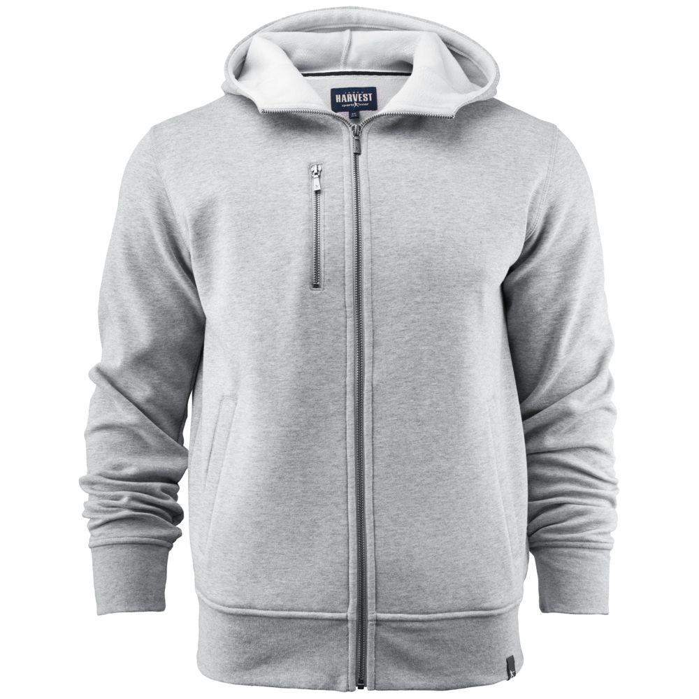 Толстовка мужская PARKWICK серый меланж, размер XL толстовка мужская кхл цвет синий меланж 321020 размер xl 54