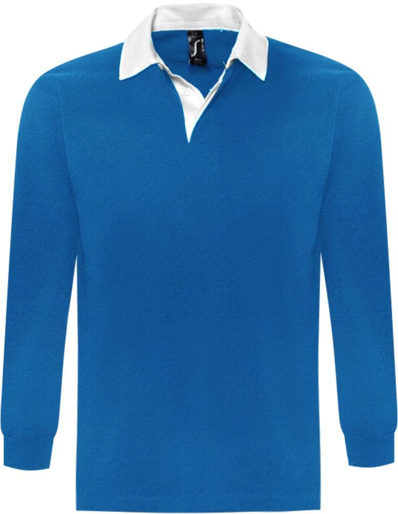 Рубашка поло мужская с длинным рукавом PACK 280 ярко-синяя, размер M фото