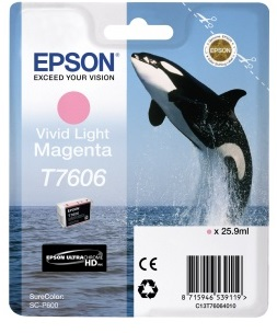 Фото - Контейнер с пурпурными чернилами Epson T7606 для SC-P600 (C13T76064010) штора для ванной wasserkraft sc 10101 180x200