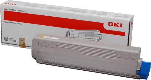 Тонер-картридж TONER-Y-C831/841/C831DM-10K (44844505)