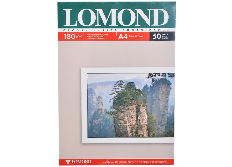 Фото - Lomond для струйной печати, A4, 180 г/м2, 50 листов, двусторонняя, глянцевая/глянцевая (0102065) lomond для струйной печати a2 100 г м2 25 листов двусторонняя матовая матовая 0102137