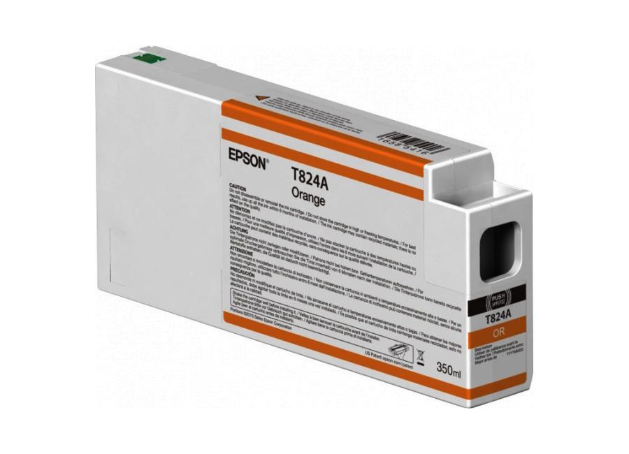 T824A Orange 350 мл (C13T824A00) картридж epson c13t824600 яркий светло пурпурный vivid light magenta 350 мл epson surecolor sc p6000 sc p7000 sc p7000v sc p8000 sc p9000 sc p9000v