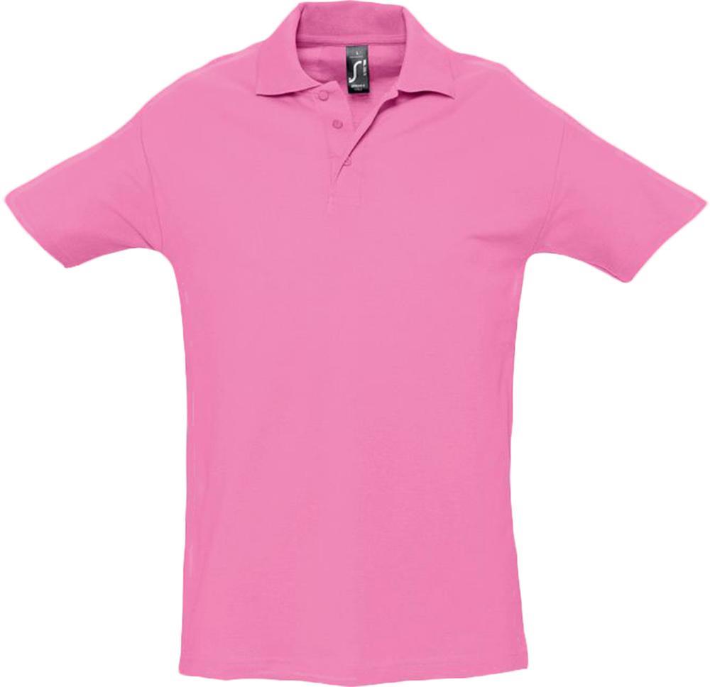 Рубашка поло мужская SPRING 210 розовая, размер S