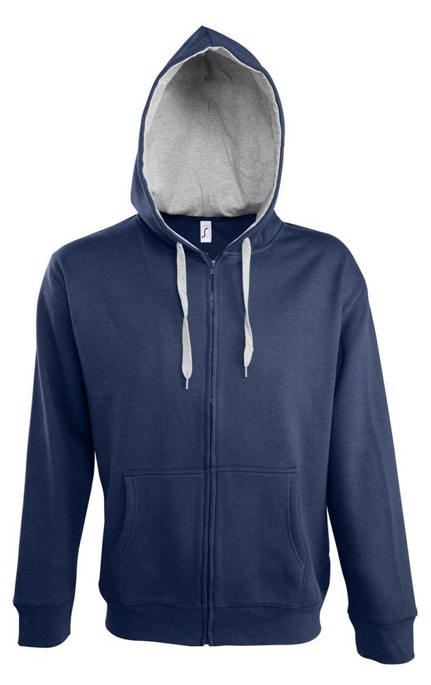 Свитшот мужской Soul men 290 с контрастным капюшоном, темно-синий, размер S
