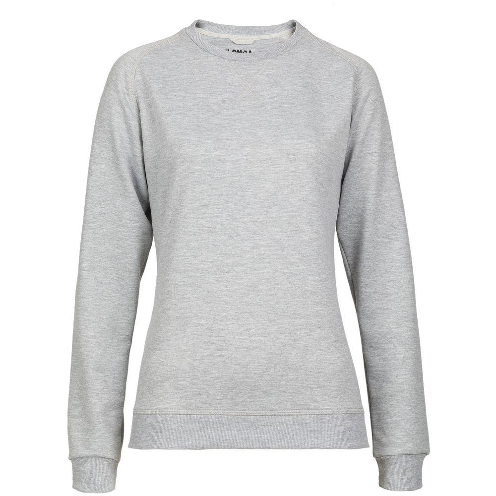 Свитшот женский Kulonga Sweat серый меланж, размер XL свитшот женский oodji collection цвет белый синий болотный 24801010 12 42316 3070f размер xl 50