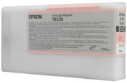 T6536 Vivid Light Magenta 200 мл (C13T653600) t8246 vivid light magenta 350 мл c13t824600