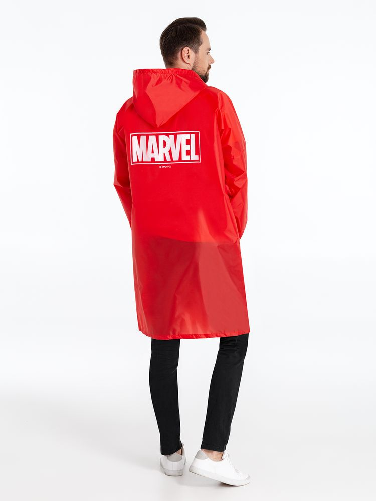 Дождевик Marvel, красный, размер M