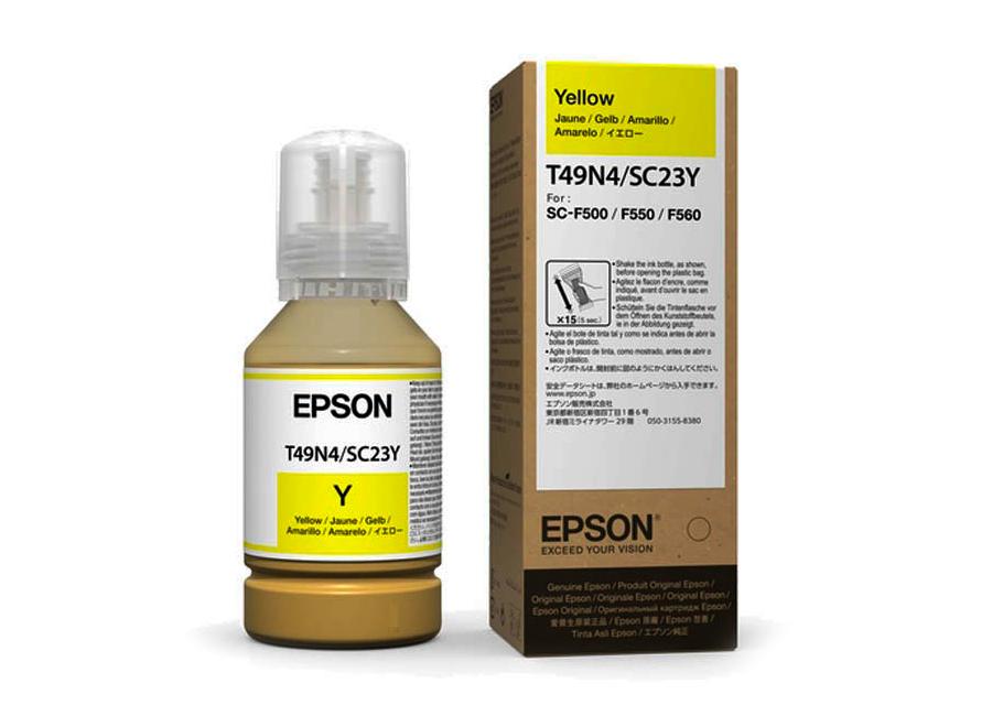 Фото - Бутыль с чернилами Epson T49N3 Yellow, 140 мл (C13T49N400) milano 140 толстовка