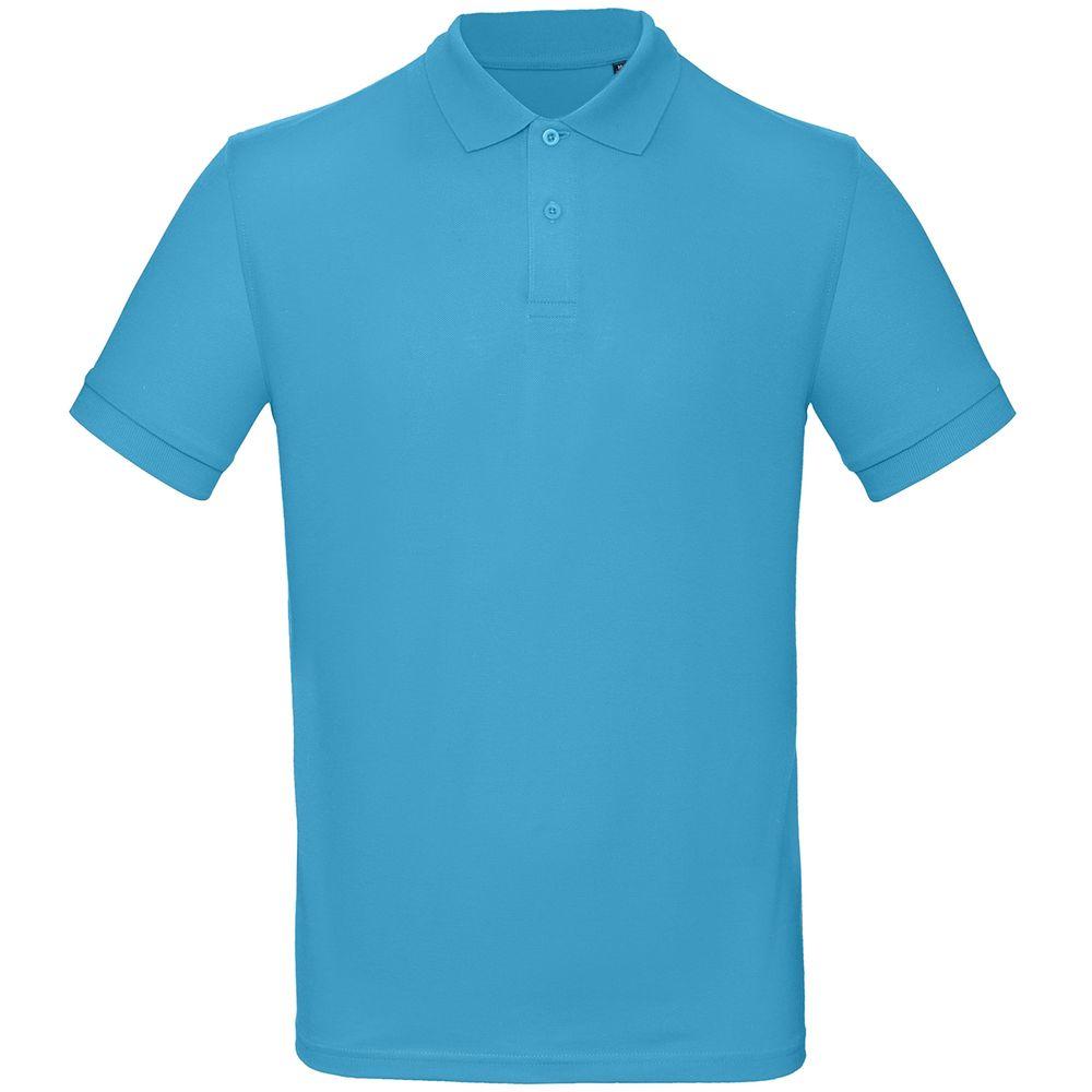 цена Рубашка поло мужская Inspire бирюзовая, размер XXXL онлайн в 2017 году