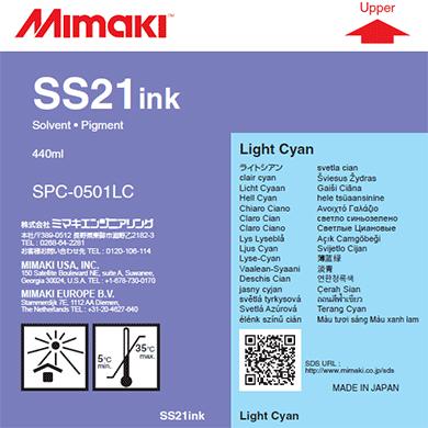 Фото - Mimaki SS21 Light Cyan 440 мл (SPC-0501LC-3) чернила mimaki lf 140 spc 0728lc light cyan