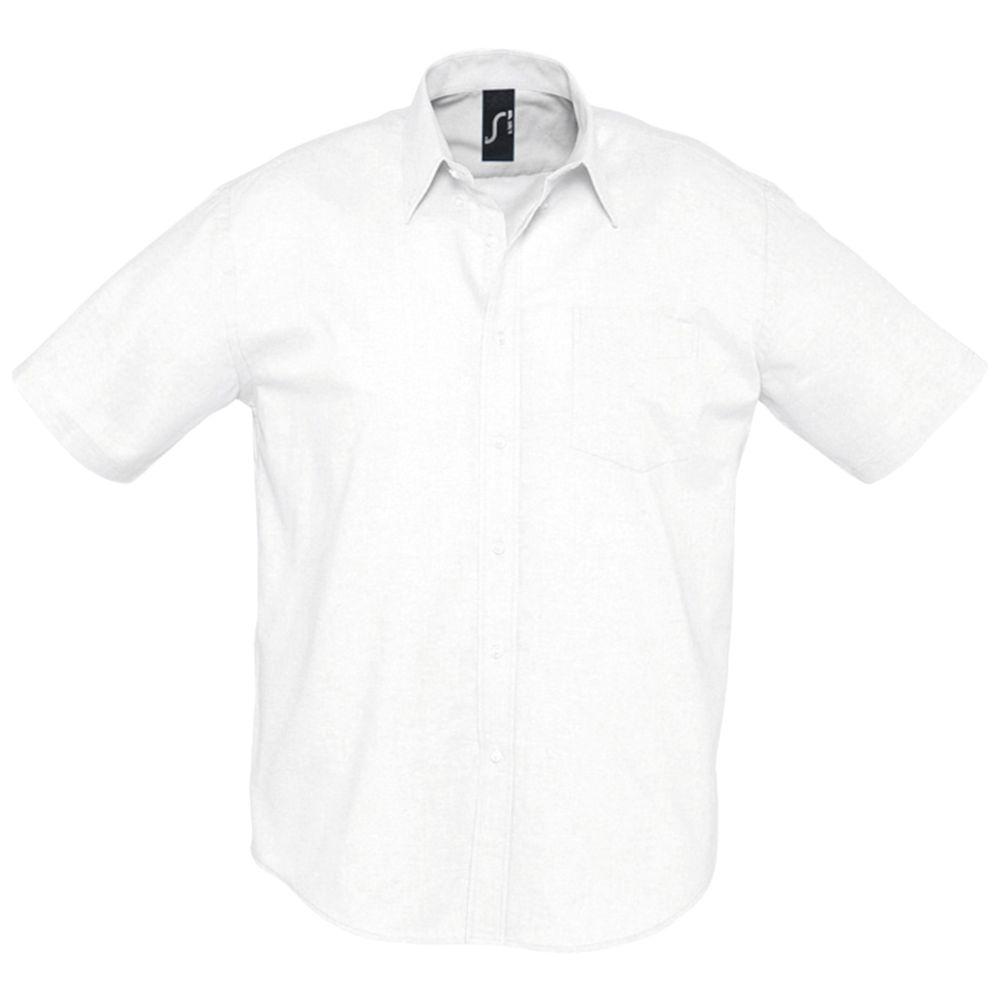 Фото - Рубашка мужская с коротким рукавом BRISBANE белая, размер S рубашка мужская с коротким рукавом brisbane голубая размер l