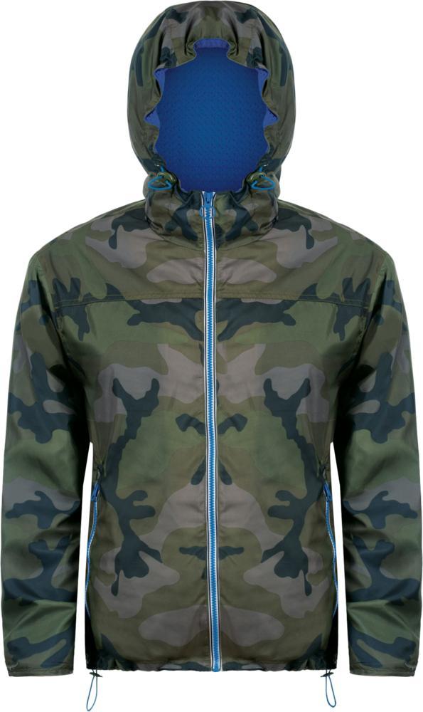 Ветровка SKATE камуфляж с синим, размер XXL