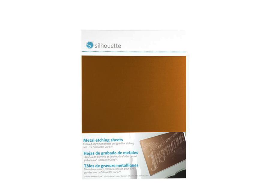 Гравировальный материал (12.7x17.8 см) (розовый, золотой, черный) для плоттеров Silhouette Curio