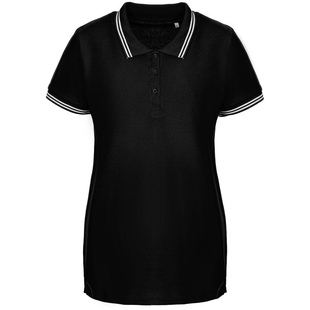 Рубашка поло женская Virma Stripes Lady, черная, размер XXL lady xxl