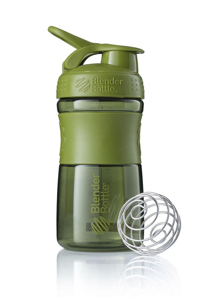 Спортивный шейкер SportMixer, зеленый (оливковый)