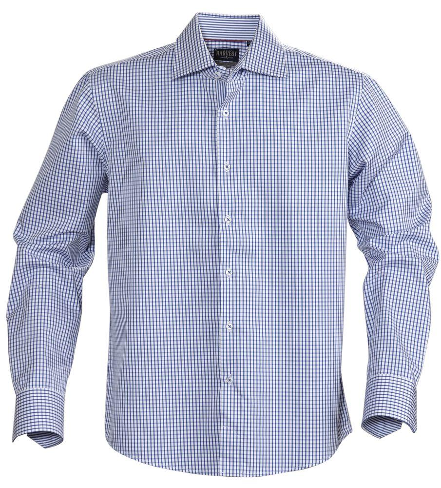 Рубашка мужская в клетку TRIBECA, синяя, размер XXL