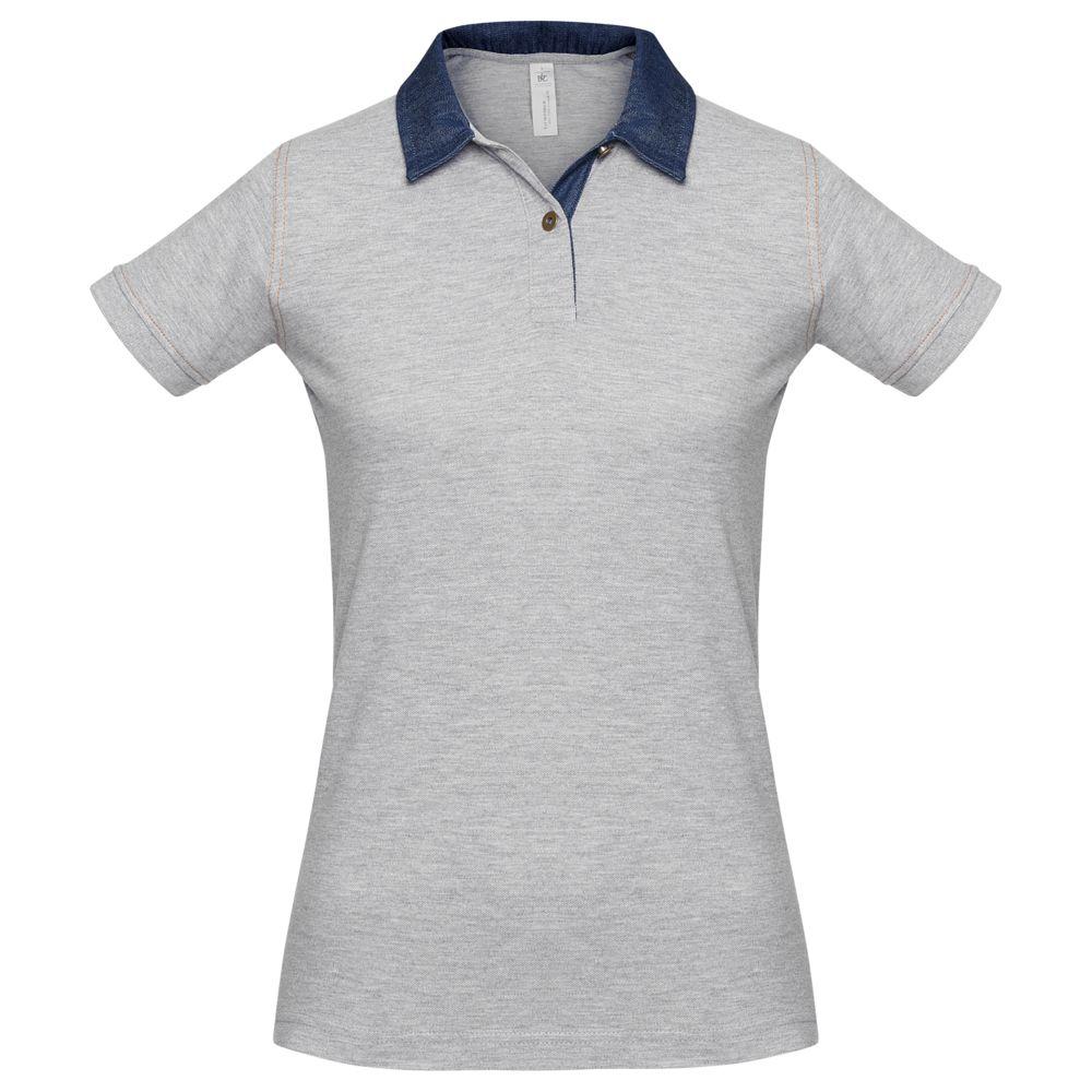 Рубашка поло женская DNM Forward серый меланж, размер S рубашка поло женская dnm forward серый меланж размер m
