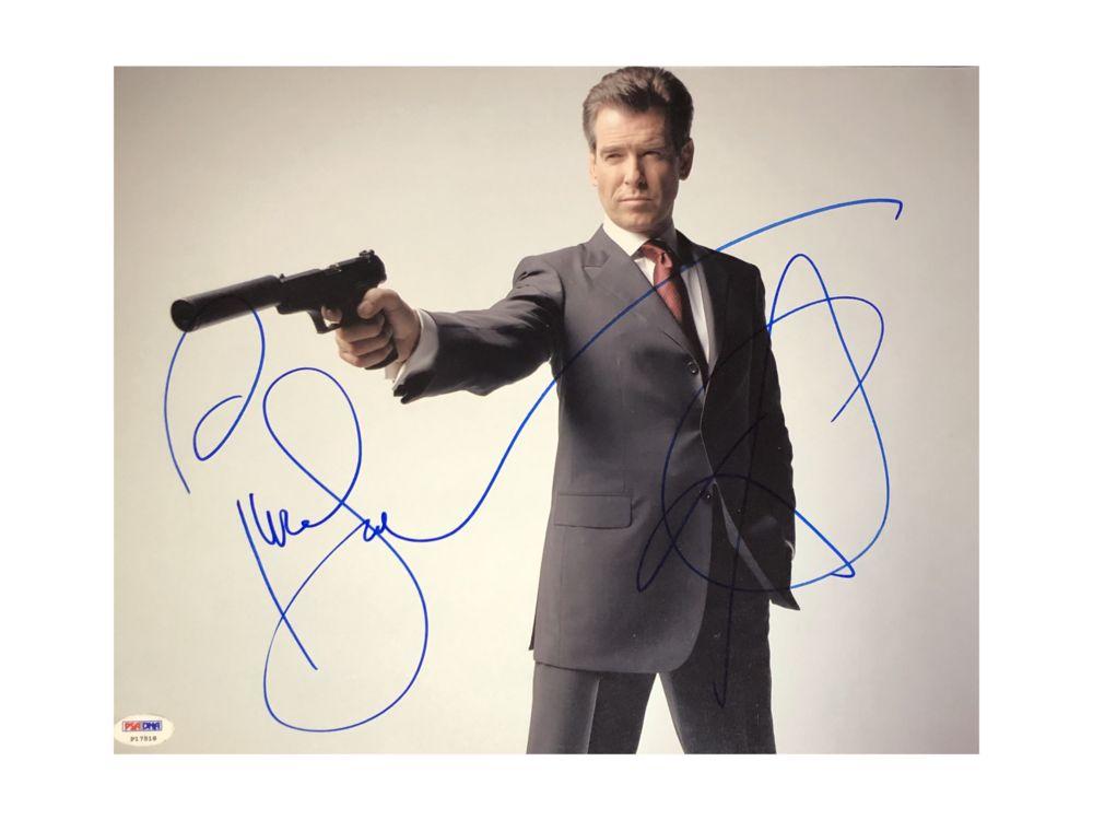 Фото с автографом Пирса Броснана фото с автографом одри хэпберн