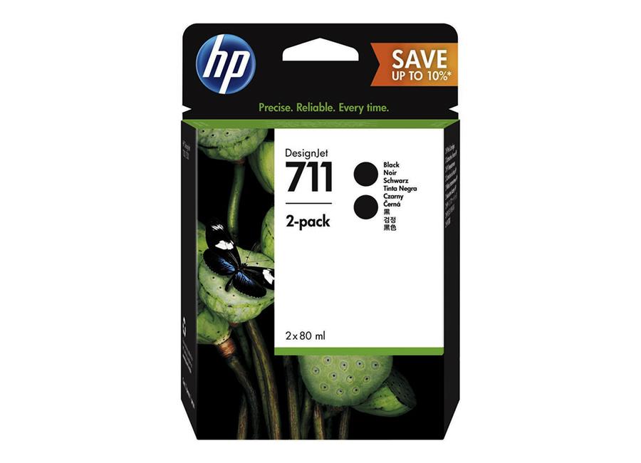 Фото - Набор картриджей HP DesignJet 711 (CZ133A) Black 2x80 мл (P2V31A) подставка 24in stand for designjet t120 t520 b3q35a