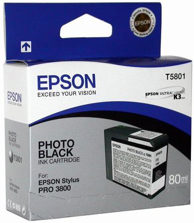 Фото - T5801 Photo Black 80 мл (C13T580100) фото