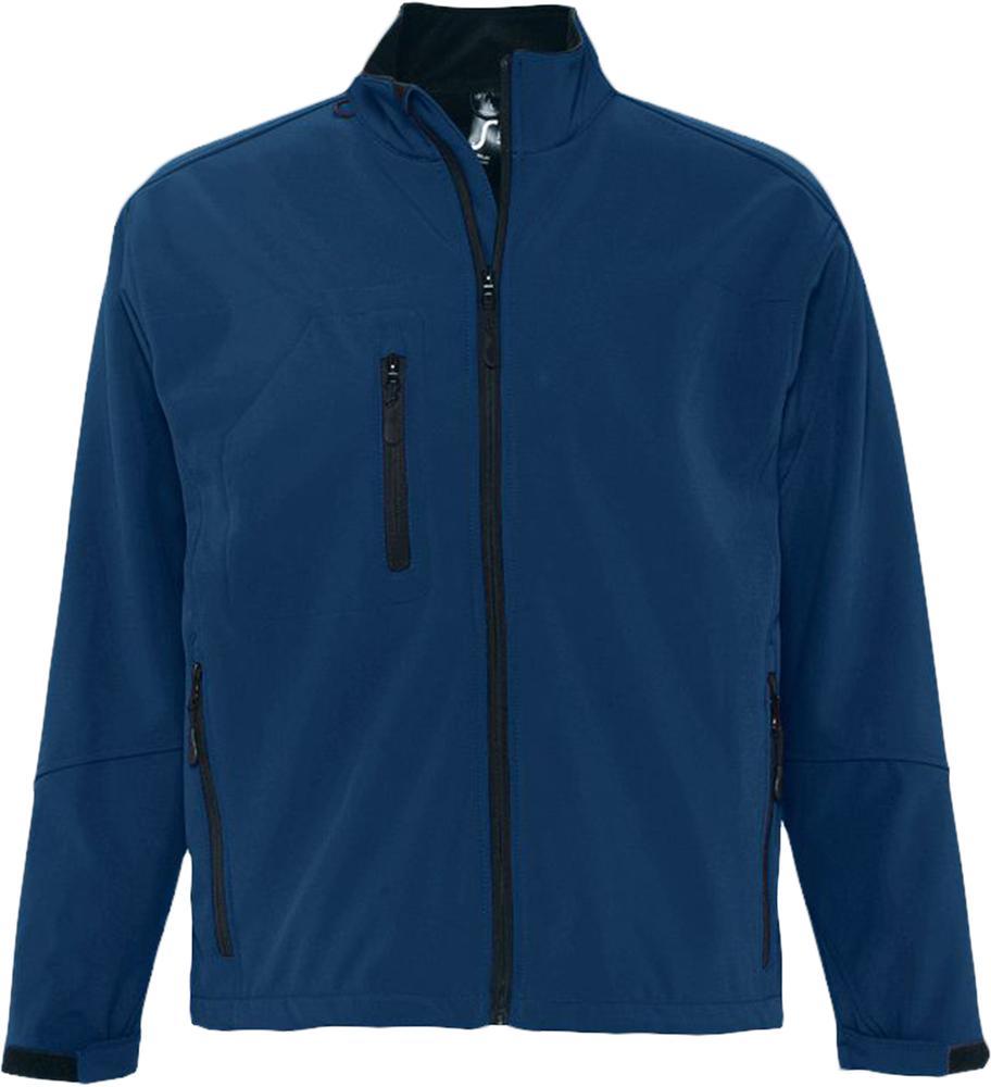 Куртка мужская на молнии RELAX 340 темно-синяя, размер S куртка мужская на молнии relax 340 белая размер xl