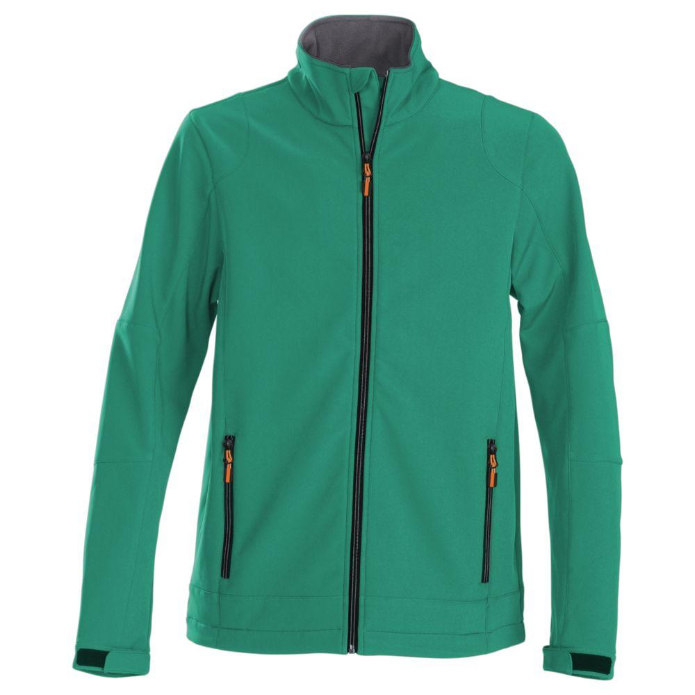 Куртка софтшелл мужская TRIAL зеленая, размер 3XL