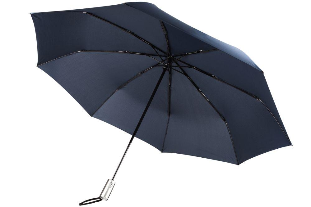 Зонт складной Unit Fiber, синий зонт складной zemsa zemsa mp002xw13drd