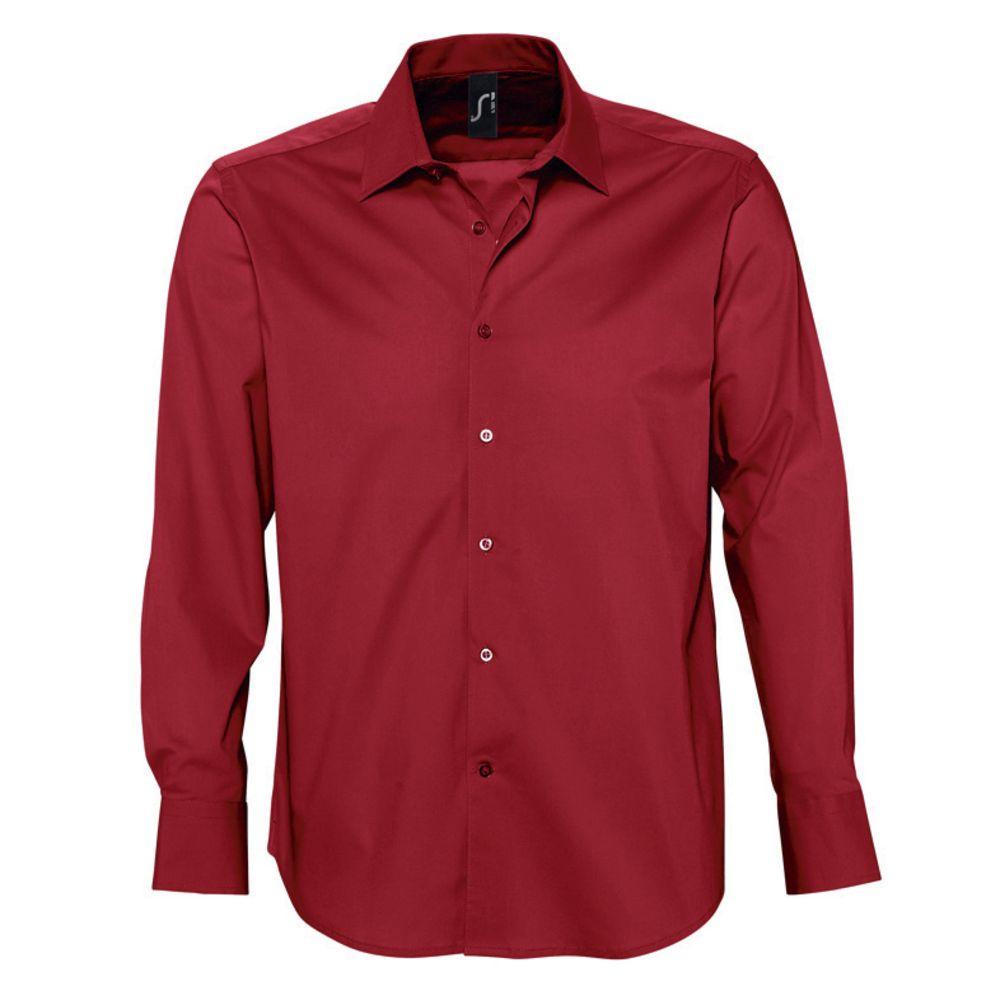 Рубашка мужская с длинным рукавом Brighton красная, размер XL