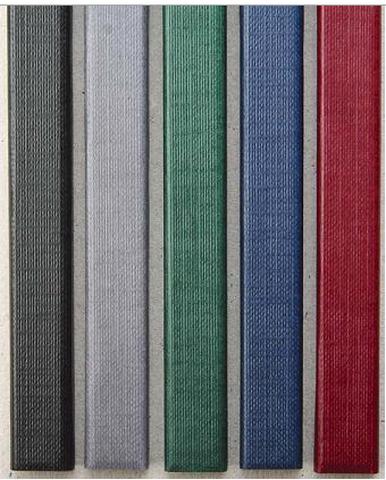 Цветные каналы с покрытием «ткань» O.CHANNEL SLIM А4 304 мм 24 мм, синий фото